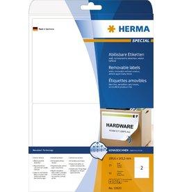HERMA Etikett, I/L/K, sk, ablösbar, abger.Ecken, 199,6 x 143,5 mm, weiß