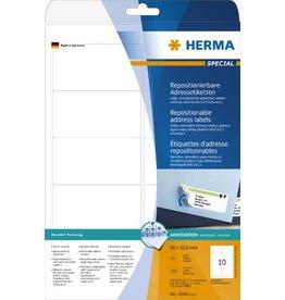 HERMA Etikett, I/L/K, sk, ablösbar, abger.Ecken, 96 x 50,8 mm, weiß