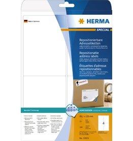 HERMA Etikett, I/L/K, sk, ablösbar, abger.Ecken, 99,1 x 139 mm, weiß