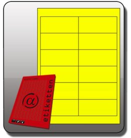 Alpha Label Etikett, Inkjet/Laser/Kopierer, selbstklebend, 97x42,3mm, neongelb