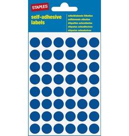 STAPLES Markierungspunkt, auf Bogen, sk, Papier, Ø: 12 mm, blau