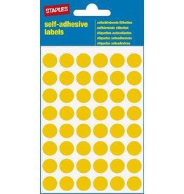 STAPLES Markierungspunkt, auf Bogen, sk, Papier, Ø: 12 mm, gelb