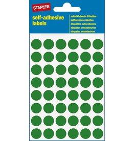 STAPLES Markierungspunkt, auf Bogen, sk, Papier, Ø: 12 mm, grün