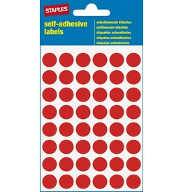 STAPLES Markierungspunkt, auf Bogen, sk, Papier, Ø: 12 mm, rot
