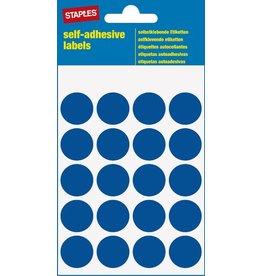 STAPLES Markierungspunkt, auf Bogen, sk, Papier, Ø: 19 mm, blau