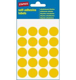 STAPLES Markierungspunkt, auf Bogen, sk, Papier, Ø: 19 mm, gelb