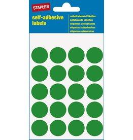 STAPLES Markierungspunkt, auf Bogen, sk, Papier, Ø: 19 mm, grün