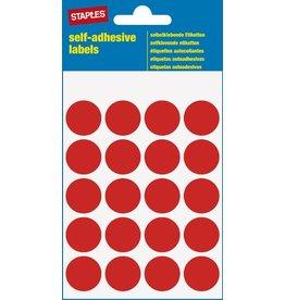 STAPLES Markierungspunkt, auf Bogen, sk, Papier, Ø: 19 mm, rot