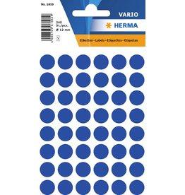 HERMA Markierungspunkt, Handbeschriftung, sk, Ø: 12 mm, dunkelblau