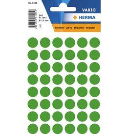 HERMA Markierungspunkt, Handbeschriftung, sk, Ø: 12 mm, dunkelgrün