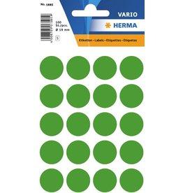 HERMA Markierungspunkt, Handbeschriftung, sk, Ø: 19 mm, dunkelgrün
