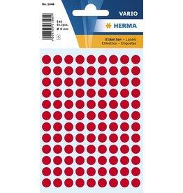 HERMA Markierungspunkt, Handbeschriftung, sk, Ø: 8 mm, leuchtrot