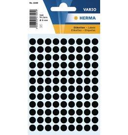 HERMA Markierungspunkt, Handbeschriftung, sk, Ø: 8 mm, schwarz