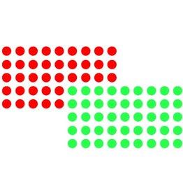 FRANKEN Markierungspunkt, selbstklebend, 19 mm, rot/grün