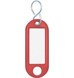 WEDO Schlüsselanhänger, Kst./Met., mit S-Haken, 52x21x3mm, rot