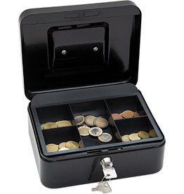 WEDO Geldkassette, 5 Fächer, Stahl, 200 x 160 x 90 mm, schwarz