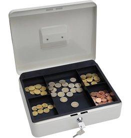WEDO Geldkassette, 5 Fächer, Stahl, 300 x 240 x 90 mm, weiß