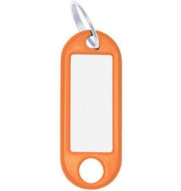 WEDO Schlüsselanhänger, Kst./Met., mit Ring, Ø: 18mm, 52x21x3mm, orange
