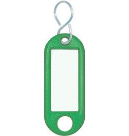 WEDO Schlüsselanhänger, Kst./Met., mit S-Haken, 52x21x3mm, grün
