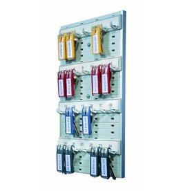 DURABLE Schlüsselbrett KEY BOARD 24, Kst., für: 24 Schlüssel, 212x360mm, grau