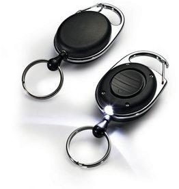 DURABLE Schlüsselring Jojo Style LED, Metall, schwarz