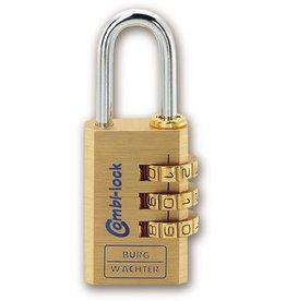 BURG WÄCHTER Vorhängeschloss Combi Lock 80, max. Nutzgröße: 12x27mm, 3 Zahlenrollen
