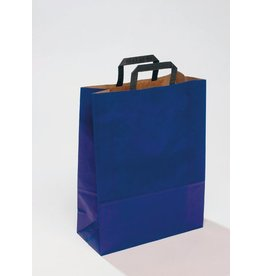 Pressel Tragetasche, Kraftpapier, 220 x 360 mm, mit Falte, 105 mm, blau