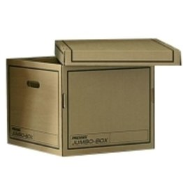 Pressel Umzugskarton Jumbobox, S, 2Griffl., mit Deckel, 391 x 370 x 320 mm