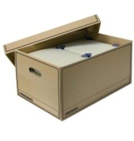 Pressel Umzugskarton Jumbobox, XL, 2Griffl., mit Deckel, 818 x 370 x 320 mm