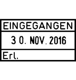 trodat Datumstempel Classic, EINGEGANGEN - Erledigt, 54 x 24 mm