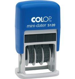 COLOP Datumstempel mini-dater S 120, mechanisch, 24 x 4 mm, Druckf.: schwarz