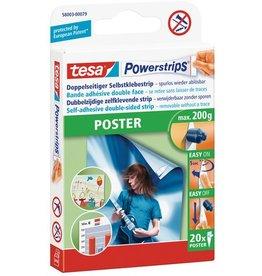 tesa Doppelklebestück Powerstrips® Poster, sk, abl., 20x40mm