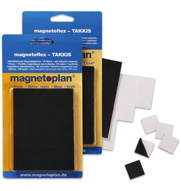 magnetoplan Doppelklebestück TAKKI, sk/magn., 15 x 15 mm