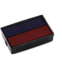 COLOP Ersatzkissen E/10/2, mit Fassung, getränkt, blau/rot