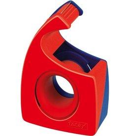 tesa Handabroller Easy Cut®, leer, für Rollen bis 19 mm x 10 m, rot/blau