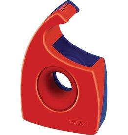 tesa Handabroller Easy Cut®, leer, für Rollen bis 19 mm x 33 m, rot/blau