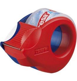 tesa Handabroller Mini, gefüllt, f.Ro.b.19mmx10m, rot/blau