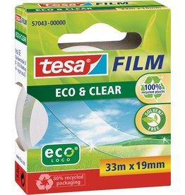 tesa Klebeband ECO & CLEAR, PP(RC), sk, perm., 19mmx33m, farbl., tr