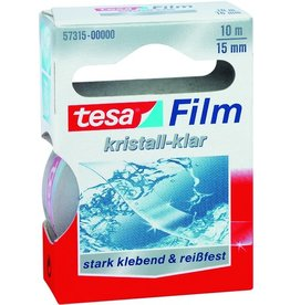 tesa Klebeband KRISTALL-KLAR, sk, 15 mm x 10 m, farblos, transparent