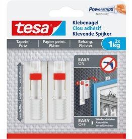 tesa Klebenagel, für Tapeten und Putz, bis 1 kg Haftkraft/Nagel, ablösbar