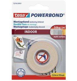 tesa Montageband POWERBOND® INDOOR, sk, 19 mm x 1,5 m