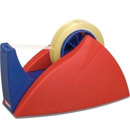 tesa Tischabroller Easy Cut®, leer, für Rollen bis 25 mm x 66 m, rot/blau