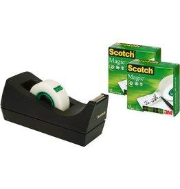 Scotch Tischabroller Promo 3+1, für Rollen bis 19 mm x 33 m, schwarz