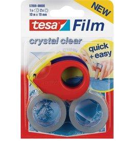 tesa Handabroller Mini, + 2 Rol. Tesafilm, f.Ro.b.19mmx10m, rot/blau