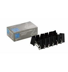 ALCO Briefklemmer Foldback, Metall, B: 32 mm, Klemmweite: 13 mm, schwarz