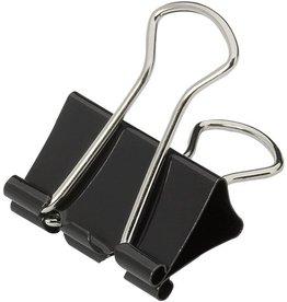 STAPLES Briefklemmer, Metall, B: 25 mm, Klemmweite: 9 mm, schwarz