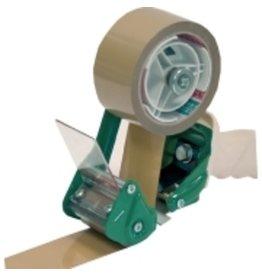 Pressel Handabroller, Kunststoff/Metall, für Klebebänder bis 50mm, weiß/grün