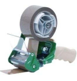 Pressel Handabroller, Kunststoff/Metall, für Klebebänder bis 75 mm, weiß/grün