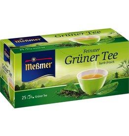 Meßmer Grüner Tee, herb-frisch, Beutel kuvertiert, Karton, 25x1,75g