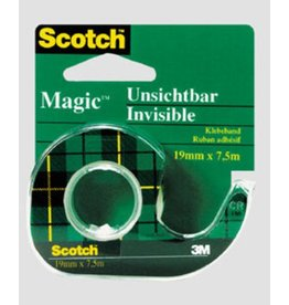 Scotch Klebeband Magic™ Tape 810, im Handabroller, sk, perm., 19mmx7,5m, tr